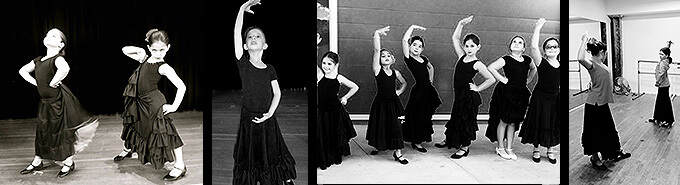 """Flamenco with Raquel is a fun experience. Over the time my passion for flamenco grew. Raquel is a dedicated teacher that passes on skill and passion to her students. I am lucky to have met her."" Sofia Kirkland, 12 years old student"